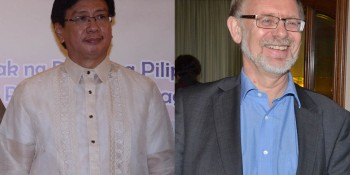 Philippines Ambassador Domingo D Lucenario Jr and Norwegian envoy Leif H Larsen who killed in a  helicopter crash in Naltar Valley, Gilgit-Baltistan on Friday.