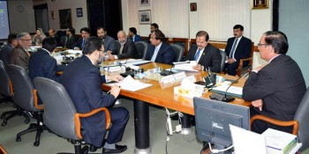 Islamabad: 20th April - Chairman NAB, Qamar Zaman Chaudhry chairing meeting to review progress on the  implementation of Internal Accountability Mechanism (IAM) at NAB Headquarter on Wednesday. - DNA Photo