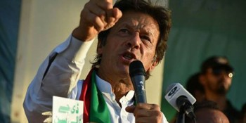 Kohat: 5th June - Chairman PTI Imran Khan addressing PTI Jalsa in Kohat on Sunday. - DNA Photo