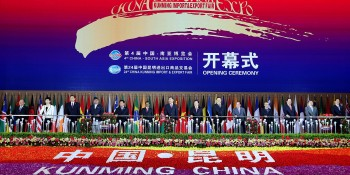 Kunming, China: 12th June - Leaders of South and Southeast Asian countries formally inaugurating the 4th China-South Asia Exposition, on Sunday. DNA Photo
