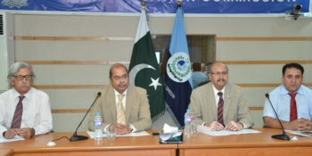 ISLAMABAD, SEPT 30:  Experts meeting at HEC to review criteria for university ranking. DNA