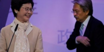 Hong Kong election: Beijing-backed Lam first female leader