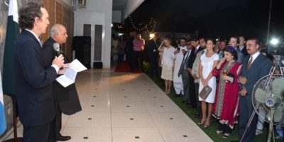 ISLAMABAD, MAY 26: Ambassador of Argentine Ivan Ivanissevich speaking on the  occasion of  national day of Argentine. DNA