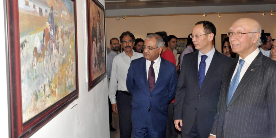 ISLAMABAD, MAY 09: Prime Minister's Adviser on Foreign Affairs Sartaj Aziz, 