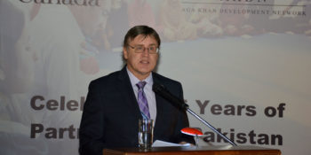 ISLAMABAD, OCT 21: High Commissioner of Canada Perry John Carlderwood seapking  during a function held to celebrate 35 years parternershp of Aga Khan Network and Govt of Canada partership in Pakistan. DNA PHOTO