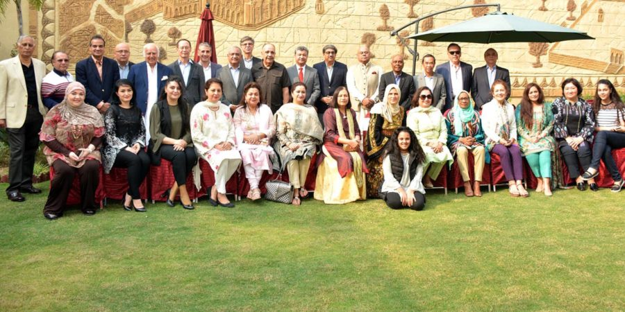 ISLAMABAD, OCT 30: Ambassador of Palestine Walid Abu Ali hosted lunch for outgoing Indian High Commissioner Gautam Bambawale. Also seen in the picture are Ambassadors of South Asia and Central Asian countries, Chief of Protocol Ministry of Foreign Affairs, Mayor and Chairman CDA Sheikh Anser Aziz and others. DNA PHOTO