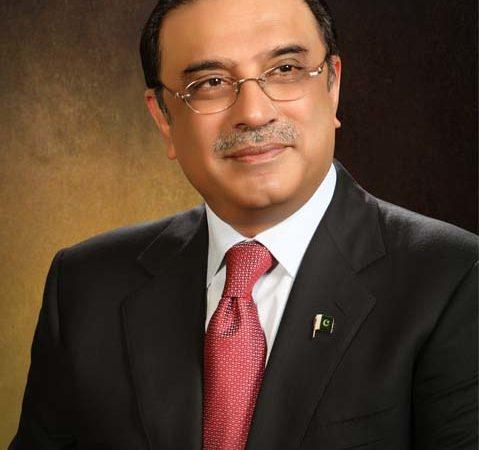 President of Pakistan  Asif Ali Zardari
