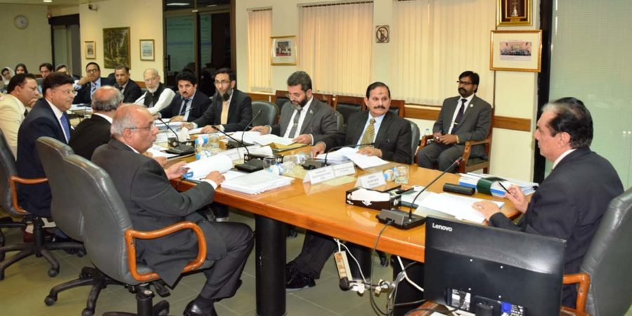 ISLAMABAD, MAR 13: Chairman NAB, Justice (retd) Javed Iqbal, chairing a NAB Executive Board Meeting, on Tuesday.=DNA PHOTO