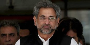 Islamabad : Pakistan's premier-designate Shahid Khaqan Abbasi leaves after meeting with politicians in Parliament house in Islamabad, Pakistan, Monday, July 31, 2017. Pakistan's parliament will meet Tuesday to elect a new prime minister after the disqualification of three-term prime minister Nawaz Sharif. Sharif's Pakistan Muslim League party nominated Sharif's longtime loyalist Abbasi for the top slot on Saturday. AP/PTI(AP8_1_2017_000184B)