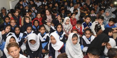 ISLAMABAD, NOV 14: Students of various schools taking part in an event organised by the Argentine embassy in connection with International Students Day. DNA PHOTO