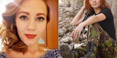 Ukrainian female sniper wins beauty contest