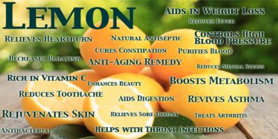 When life gives you Lemons, use them for health benefits
