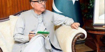 SHC seeks record of plea against Dr Arif Alvi's election as president