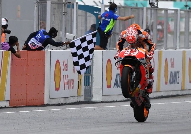 Malaysian MotoGP: Marquez wins, Rossi crashes out of lead