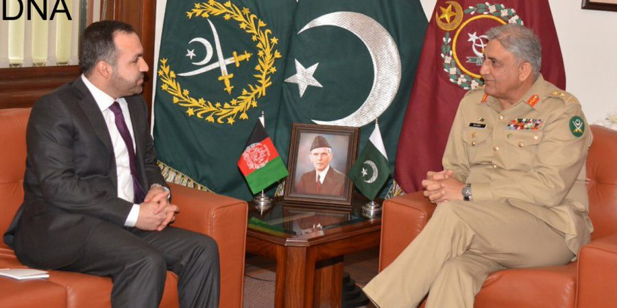 Afghan envoy meets COAS Gen. Bajwa at GHQ