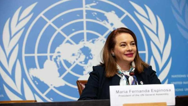 UNGA President Maria Fernanda Espionosa to visit Pakistan on Jan 18