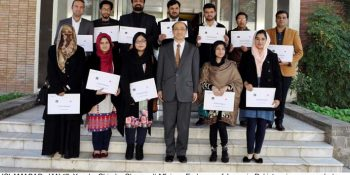 ISLAMABAD, JAN 17: Yusuke Shindo, Charge d' Affaires, Embassy of Japan in Pakistan, in a group photo  with the Pakistani  university students before their visit to Japan on people-to-people exchange program  (JENESYS) at the occasion of pre-departure orientation ceremony held today at the Embassy of Japan.DNA