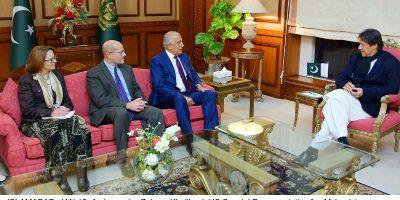 Ambassador Zalmay Khalilzad meets PM Imran Khan
