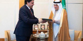 Pakistan envoy to Saudi Arabia meets Foreign Minister Dr. Ibrahim Alassaf