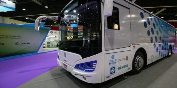 Abu Dhabi's green energy firm launches region's first all-electric bus