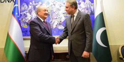 FM Qureshi meets Foreign Minister of Uzbekistan Abdulaziz Kamilov in Germany