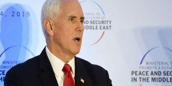 Pence demands EU isolate Iran as Israelis, Arabs unite
