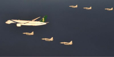 PAF fighter aircraft escort Saudi Crown Prince