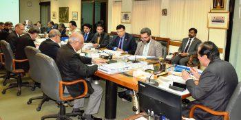 ISLAMABAD, FEB 8: Chairman NAB presiding over a high level meeting . DNA PHOTO