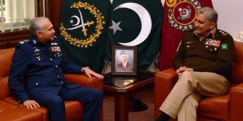 Air Chief Marshal meets Army Chief Gen. Qamar Javed Bajwa