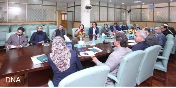ISLAMABAD, FEB 06 Muhammad Usman Dar, Special Assistant to the Prime Minister on Youth  Affairs presiding over a meeting on Wednesday. DNA PHOTO