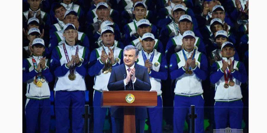 "Uzbekistan President addresses at opening ceremony of multifunctional Ice Complex ""Humo Arena"""