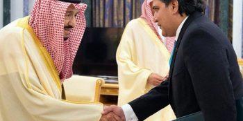 Pakistan's envoy Raja Ali Ejaz presents credentials to Saudi king