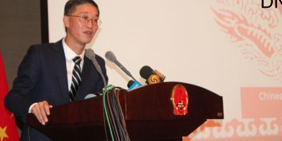 ISLAMABAD, APR 22: Ambassador of China, Yao Jing addressing a press conference, on Monday.=DNA PHOTO