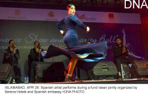 ISLAMABAD, APR 26: Spanish artist performs during a fund raiser jointly organized by Serena Hotels and Spanish embassy.=DNA PHOTO