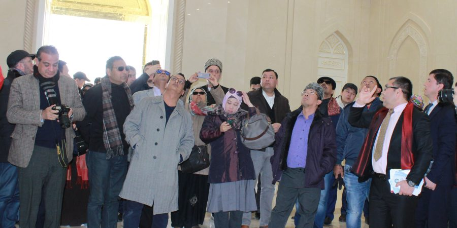 Delegates being briefed about Imam Bukhar Research Center
