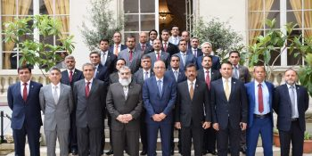 pic 22 member delegaton of NDU visited to Paris