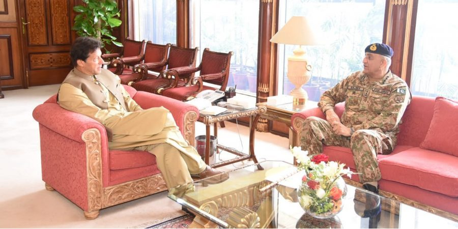 Chief of Army Staff General Qamar Javed Bajwa calls on Prime Minister Imran Khan at PM's Office on 15th May, 2019