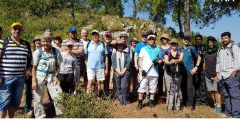 ISLAMABAD, JUNE 16: Diplomats of various countries taking part in a trekking event to bid farewell to Australian High Commissioner.=DNA