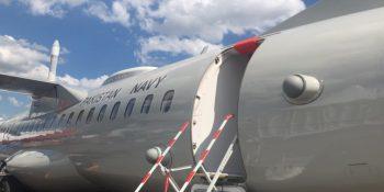 Pic Pak Navy ATR aircraft displayed at Paris Airshow
