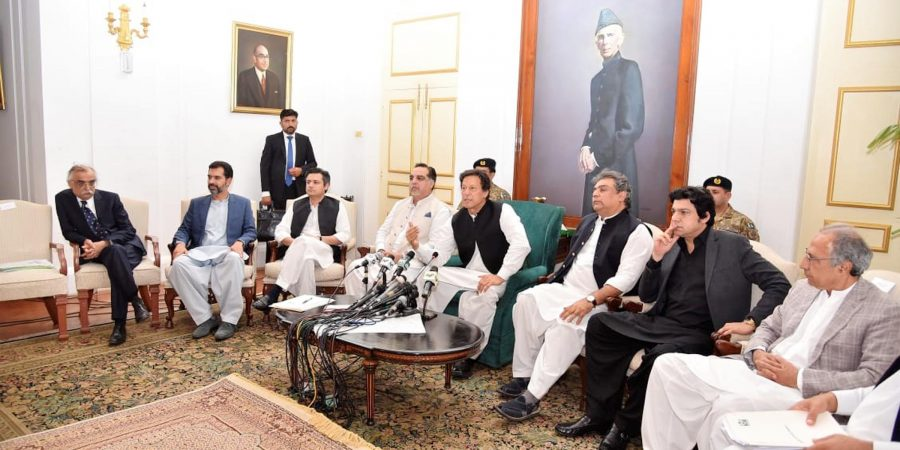 Prime Minister Imran Khan holding Media Talk in Karachi on July 10, 2019