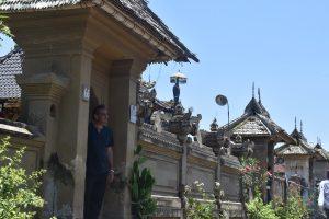 Author in the Penglipuran Village